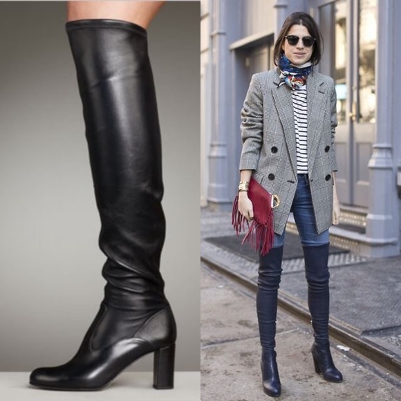 62428e31e45 Valentino stretch leather over the knee boots 36.5.  M 5bc76571c9bf50d96d51fc90